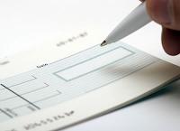Sending a cheque